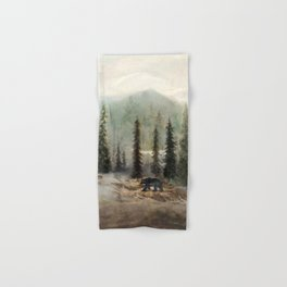Mountain Black Bear Hand & Bath Towel