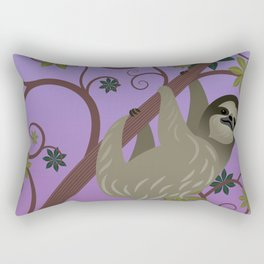 Sloth in a Tree Rectangular Pillow