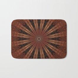 Rust Brown Bohemian Mandala Badematte