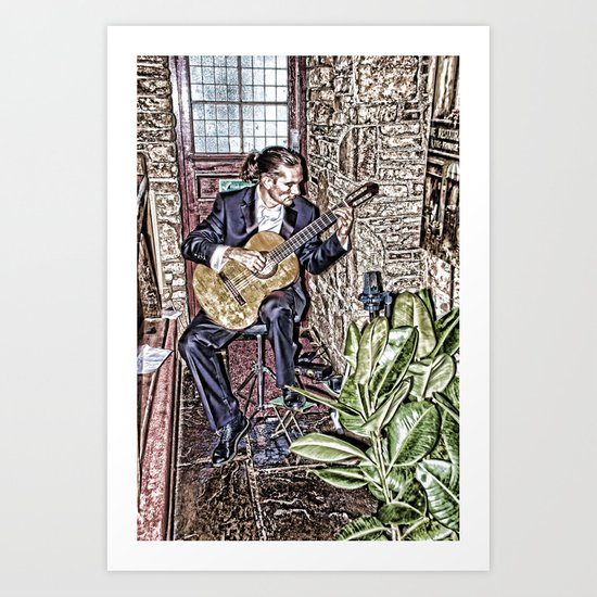 While My Guitar Gently Weeps Art Print
