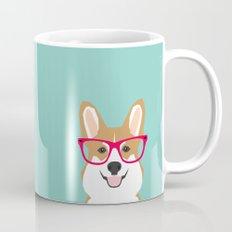 Teagan Glasses Corgi cute puppy welsh corgi gifts for dog lovers and pet owners love corgi puppies Mug
