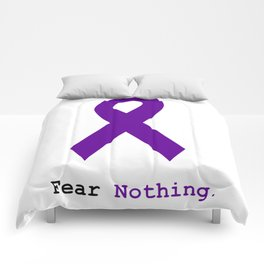 Fear Nothing: Purple Ribbon Awareness Comforters