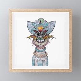 Fashion Cat Framed Mini Art Print