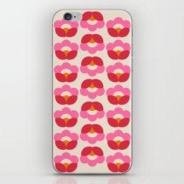 Flowers geometry - retro pattern no2 iPhone Skin
