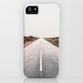 ROAD - HIGH WAY - LANDSCAPE - PHOTOGRAPHY - NATURE - ADVENTURE - SKY iPhone Case