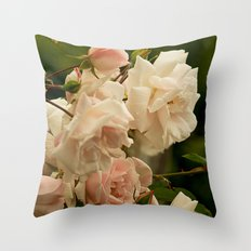 A Bed of Roses Throw Pillow