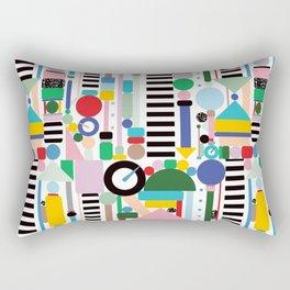 Memphis Milano Postmodern City Towers Rectangular Pillow