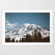 Retro Rainier Art Print