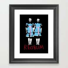 Redrum Framed Art Print