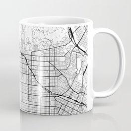Hollywood California Street Map Minimal Coffee Mug