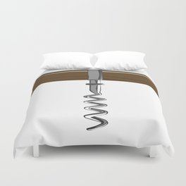 Corkscrew With Wooden Handle Duvet Cover