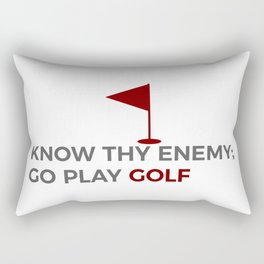 Know Thy Enemy Play Golf Strategy Rectangular Pillow