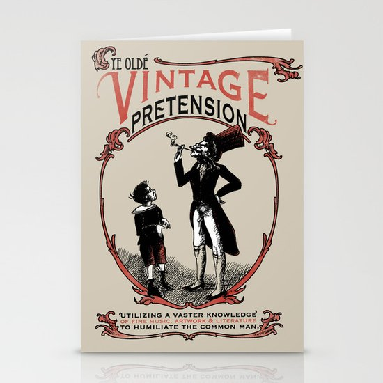 Ye Oldé Vintage Pretension Stationery Cards
