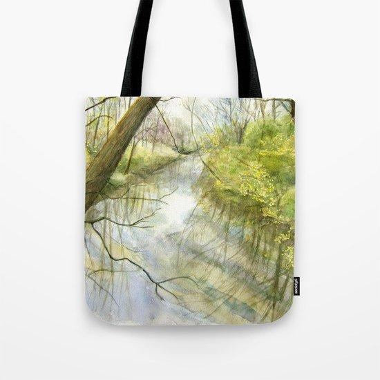 Root River at Racine Tote Bag