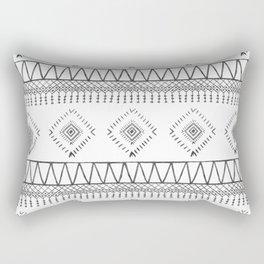 Gray Boho Aztec Rectangular Pillow