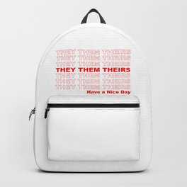 THEY THEM GROCERY PRONOUNS Backpack