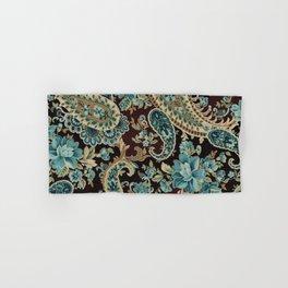 Brown Turquoise Paisley Hand & Bath Towel