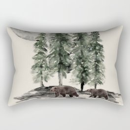 Full Moon Rising Rectangular Pillow