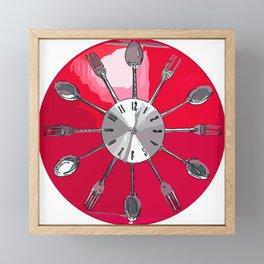 Cutlery O'clock 2. Framed Mini Art Print