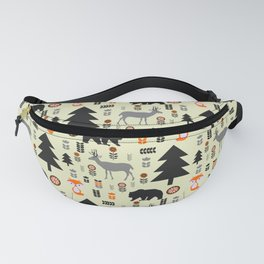 Winter bears, foxes and deer Fanny Pack