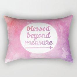 Blessed Beyond Measure Watercolor Rectangular Pillow