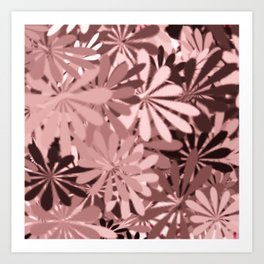 In The Tropics LIGHT PINK Art Print