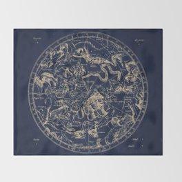 Gold Ceiling   Zodiac Skies Throw Blanket