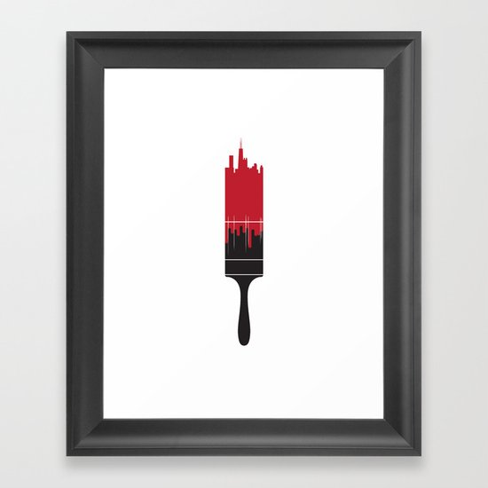 Paint the Town Red Framed Art Print