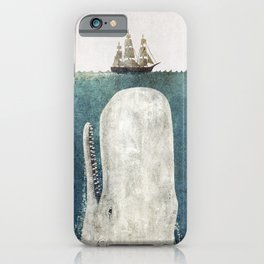 The Whale - vintage  iPhone Case