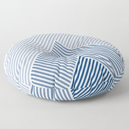 Shades of Blue Abstract geometric pattern Floor Pillow