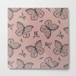 Blocked Butterfly Metal Print