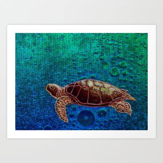 Turtle Patience Art Print