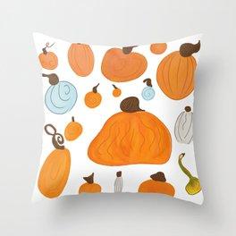 Pumpkin Family Throw Pillow
