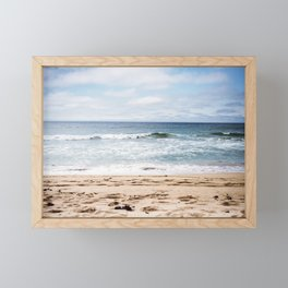 In the waves of change we find our direction Framed Mini Art Print