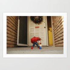 Red Hulk Come Home Art Print