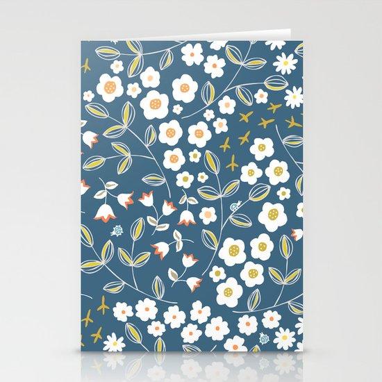 Ditsy Blue Stationery Cards
