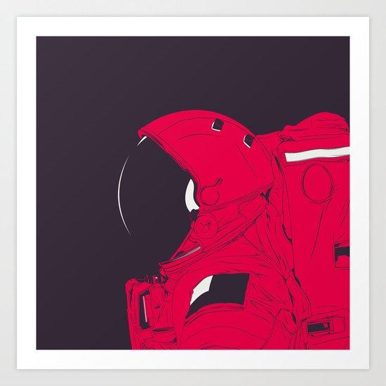GOD IS AN ASTRONAUT // R Art Print