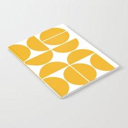 Mid Century Modern Geometric 04 Yellow Notebook