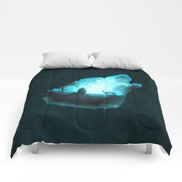 Blue Wolf Comforters