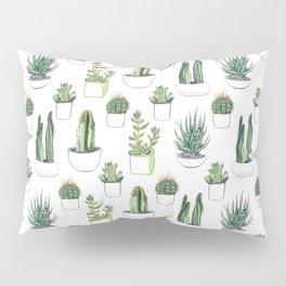 Watercolour Cacti & Succulents Pillow Sham