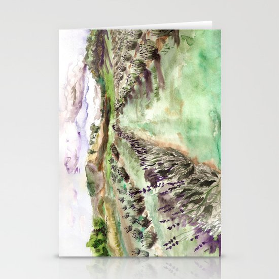 Purple up over the hills Stationery Cards