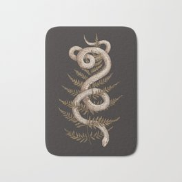 The Snake and Fern Bath Mat