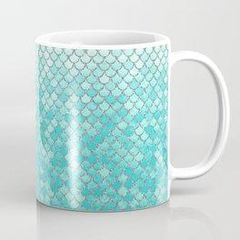 Teal Mermaid Scales Coffee Mug
