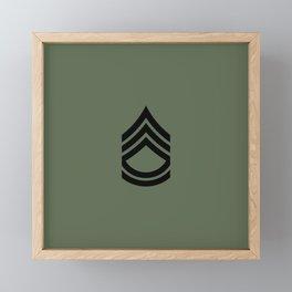 Sergeant First Class (Green) Framed Mini Art Print