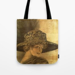 Golden victorian lady Tote Bag