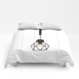 Modern Lamp (Color) Comforters
