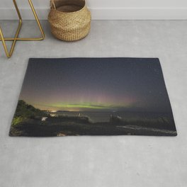 Aurora over Rockport Harbor Rug
