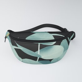 Eucalyptus Leaves Green Black #1 #foliage #decor #art #society6 Fanny Pack