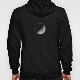Moon and Woman Symbol Hoody