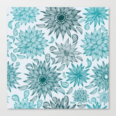 Seamless flower pattern Canvas Print
